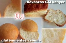 Új gluténmentes pékáruk! Gluténmentes zsömle és kovászos GM kenyér