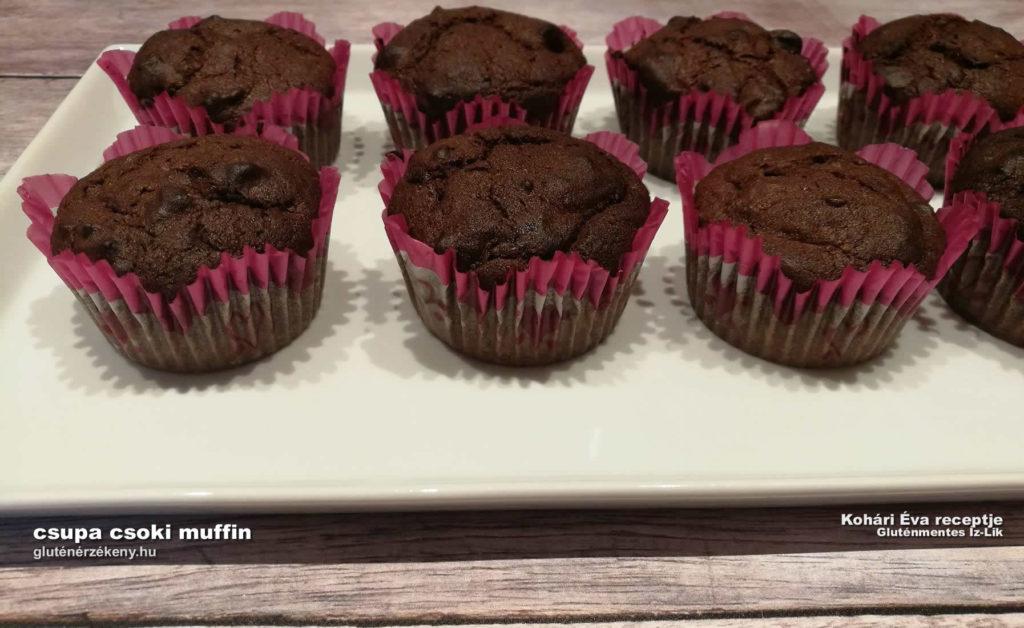 gluténmentes csokis muffin recept | gluténmentes sütemények, gluténmentes íz-lik