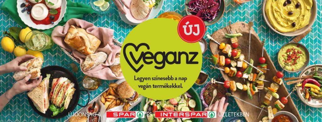 veganz növényi élelmiszerek a sparban