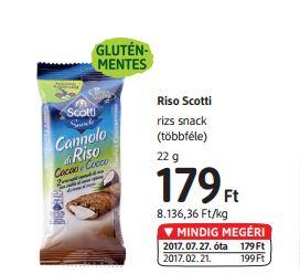 gluténmentes snack Riso Scotti