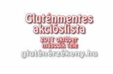 Gluténmentes akciós lista 2017 október második fele