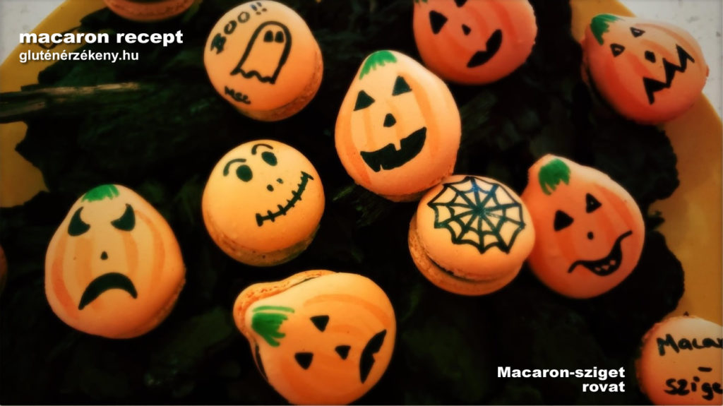 gluténmentes macaron sziget halloween