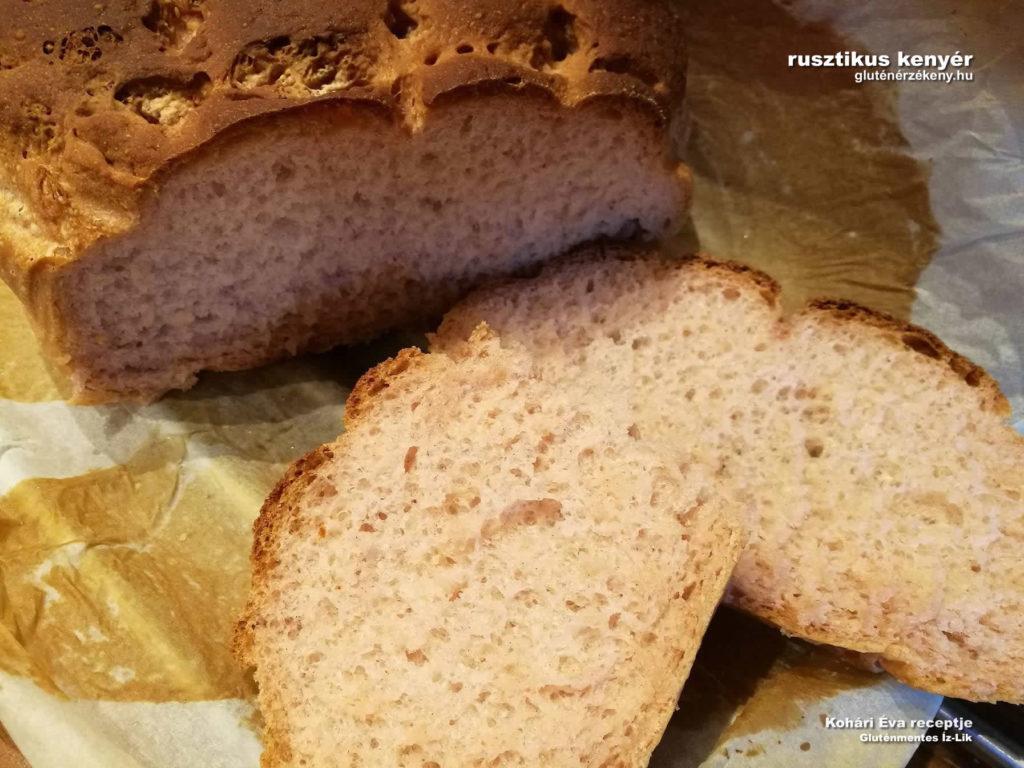 rusztikus gluténmentes kenyér recept  Kohári Éva gluténmentes Íz-Lik
