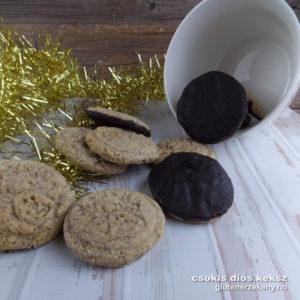 csokis diós gluténmentes keksz rizslisztes recept