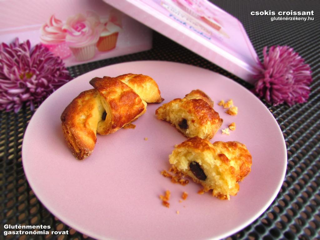 csokis gluténmentes croissant recept