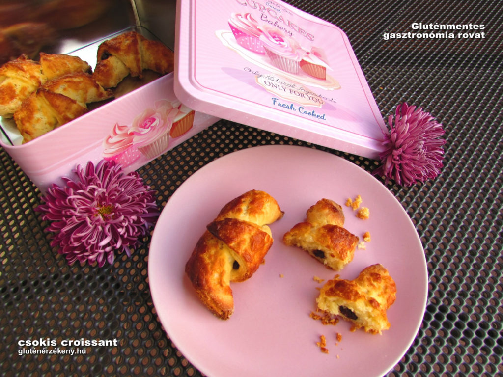 gluténmentes csokis croissant recept