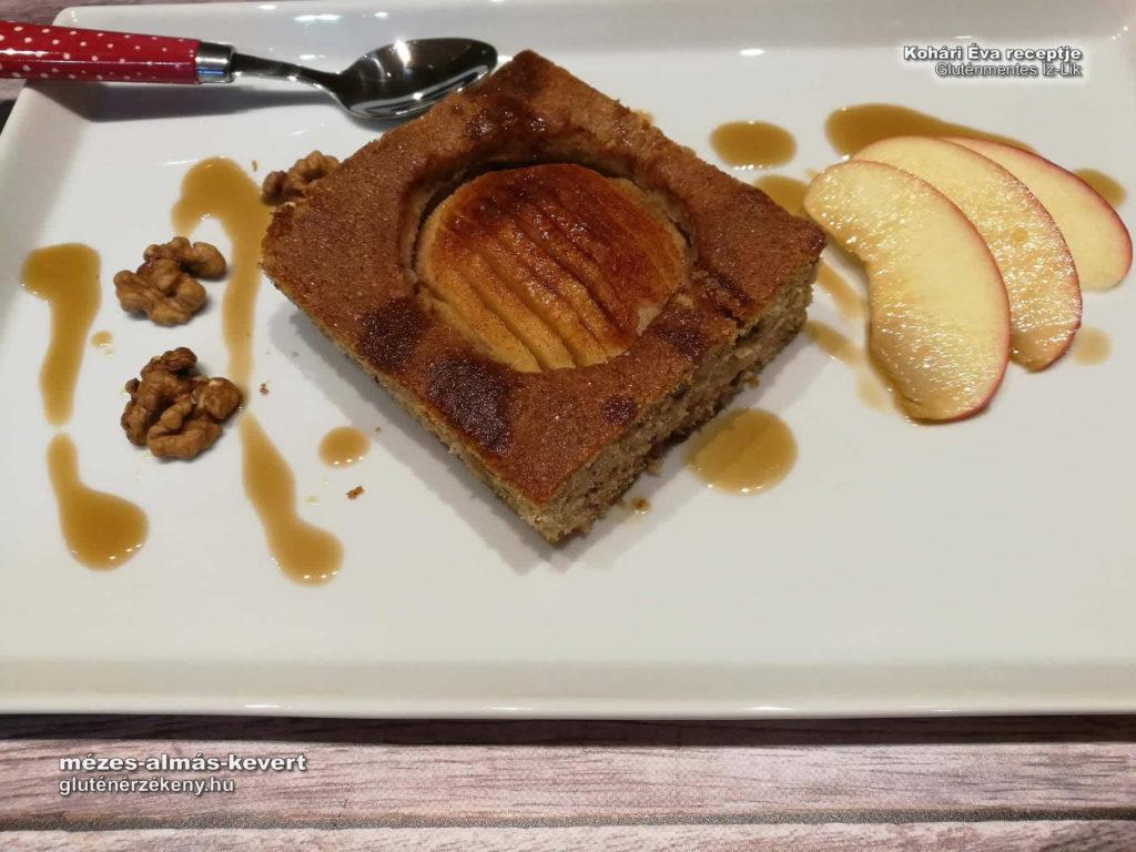 mézes almás kevert gluténmentes süti | Kohári Éva, gluténmentes íz-lik