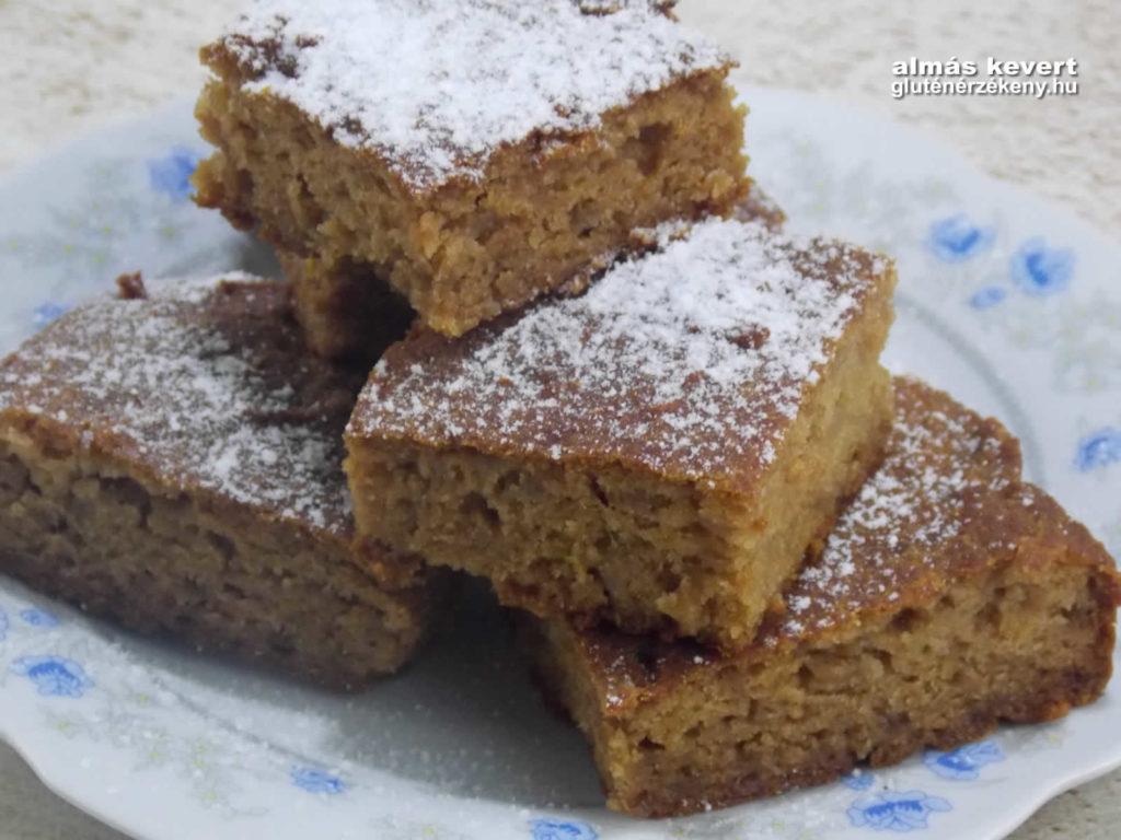 kevert almás gluténmentes sütemény recept