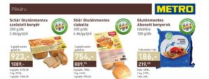 Gluténmentes termékek metro Schär