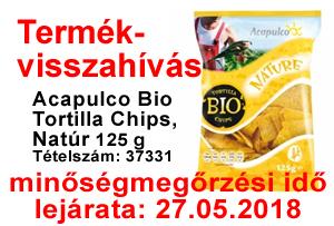 gluténmentes Tortilla Chips termékvisszahívás termékvisszahívás