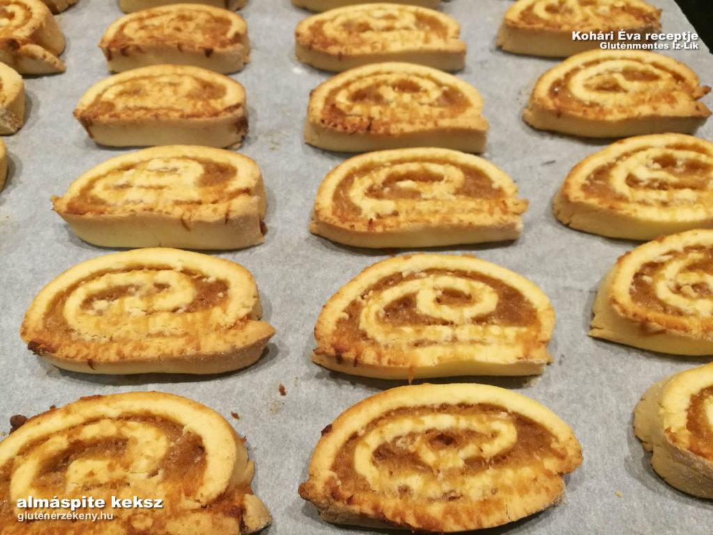 gluténmentes almás pite-keksz