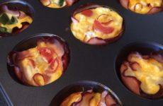 Omlett muffin - gluténmentes reggeli recept Vicától