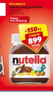 gluténmentes Nutella ALDI
