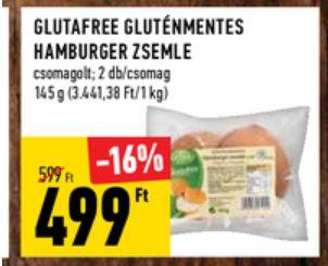 gluténmentes hamburger zsemle