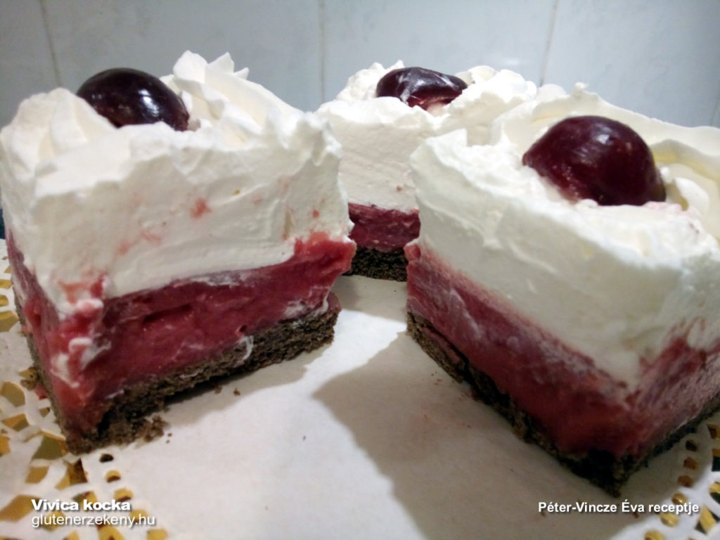 Vivica kocka gluténmentes sütemény recept