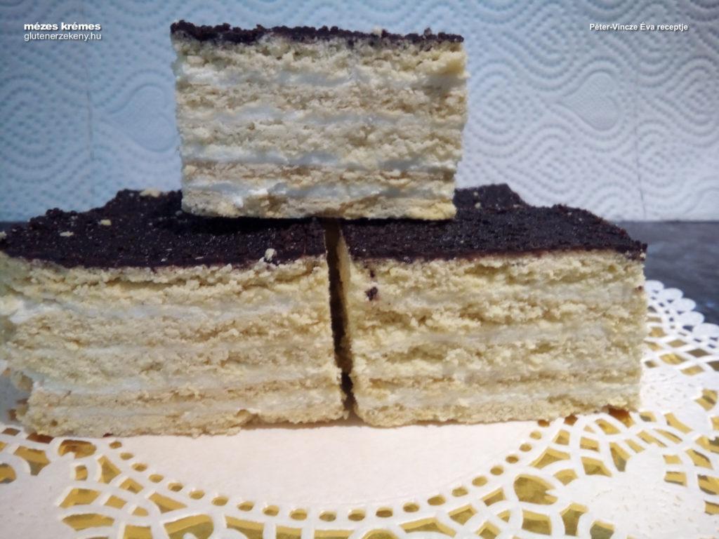 gluténmentes mézes krémes sütemény recept