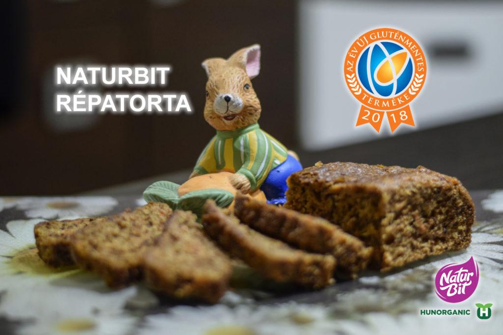 az év új gluténmentes terméke díj nyertese a naturbit gluténmentes répatorta