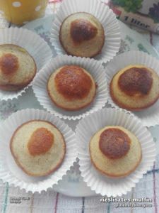 rizslisztes gluténmentes muffin recept