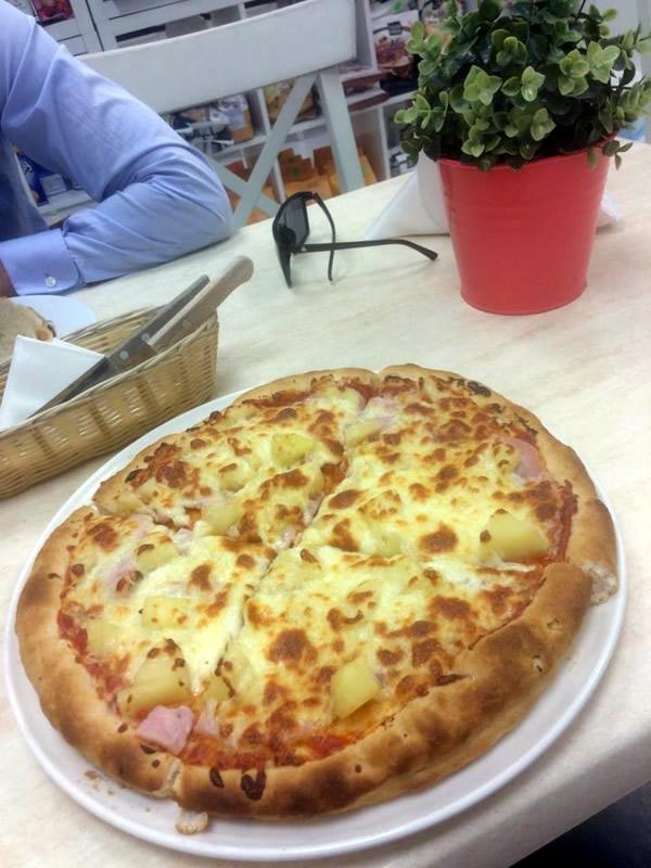 gluténmentes hawai pizza Cöli bisztró