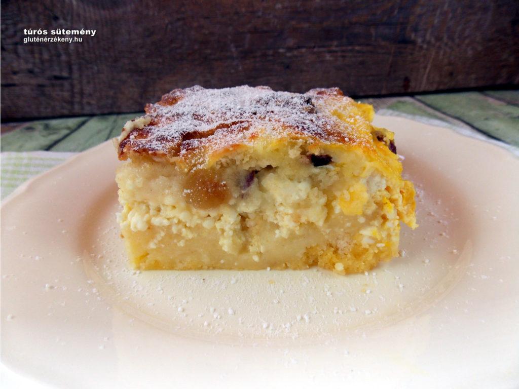 gluténmentes túrós sütemény