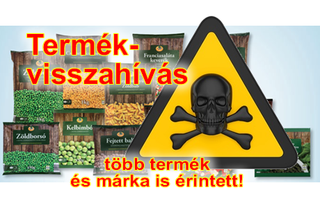 zöldség termékvisszahívás
