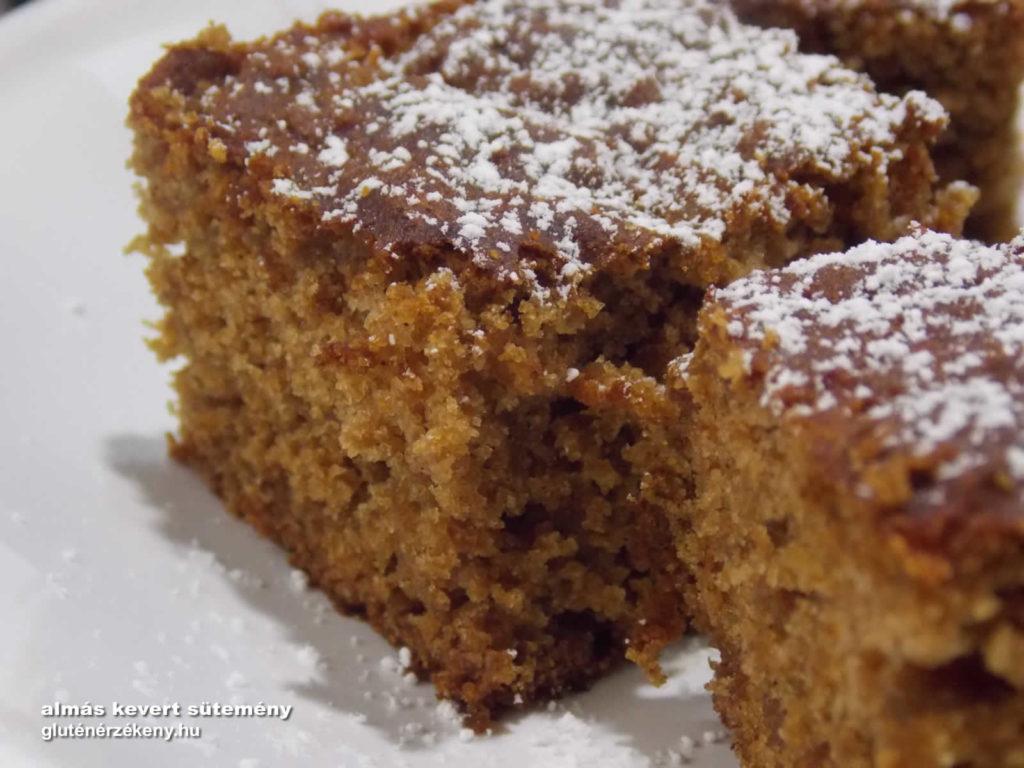 barna rizslisztes almás gluténmentes sütemény