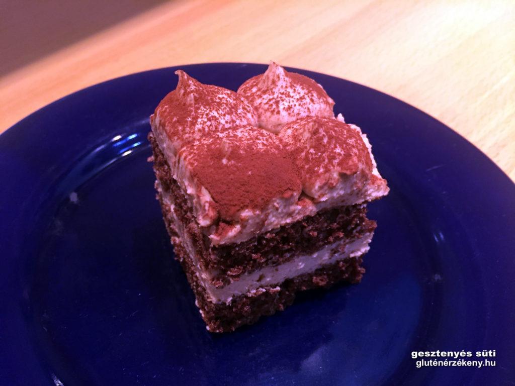 gluténmentes gesztenyés sütemény