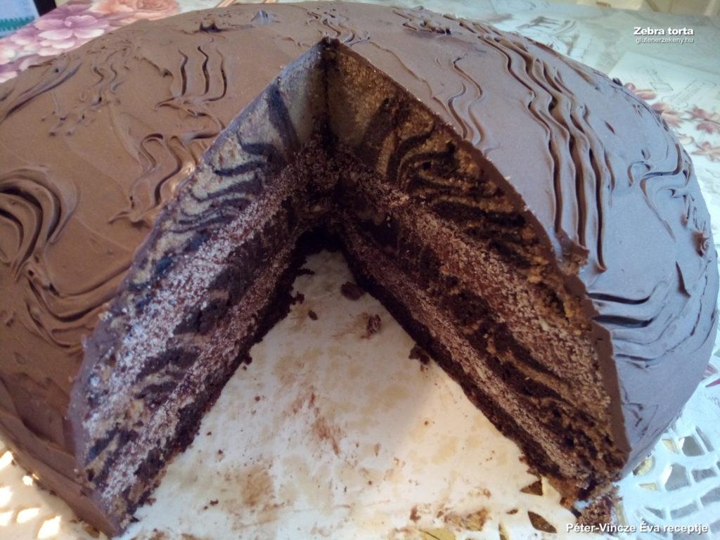 gluténmentes torta recept Zebratorta