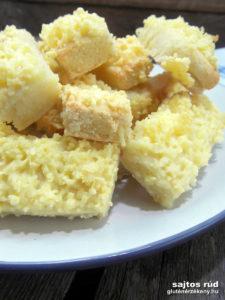 sajtos gluténmentes rúd recept