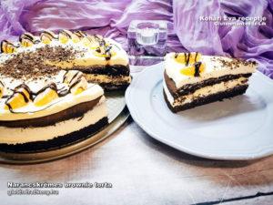 narancskrémes gluténmentes brownie torta