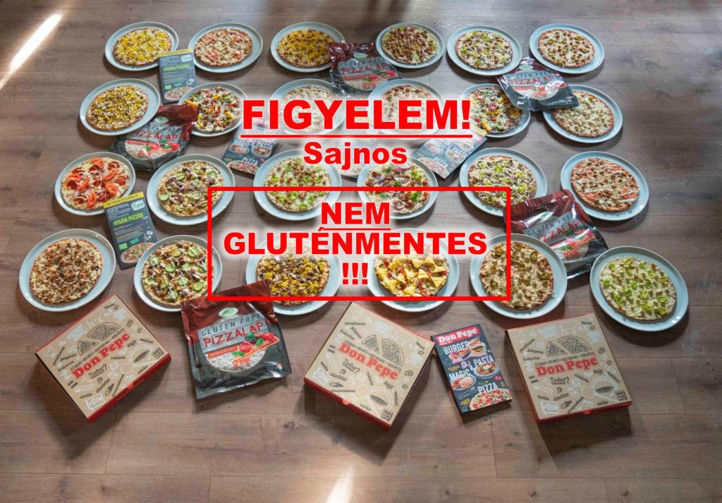Don Pepe gluténmentes pizzák