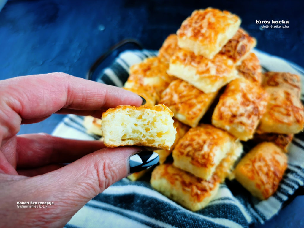 sós gluténmentes süti recept túrós kocka