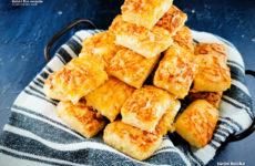 Füstölt sajtos, gluténmentes túrós kocka