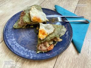 spenótos gluténmentes tortilla készítés