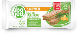 Abonett sandwich gluténmentes sajtos-snidlinges