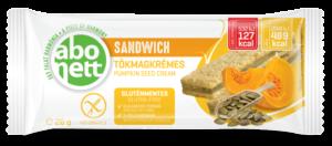 abonett gluténmentes sandwich tökmagkrémes