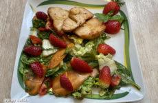 Epres balzsamecetes saláta, pulykamellel