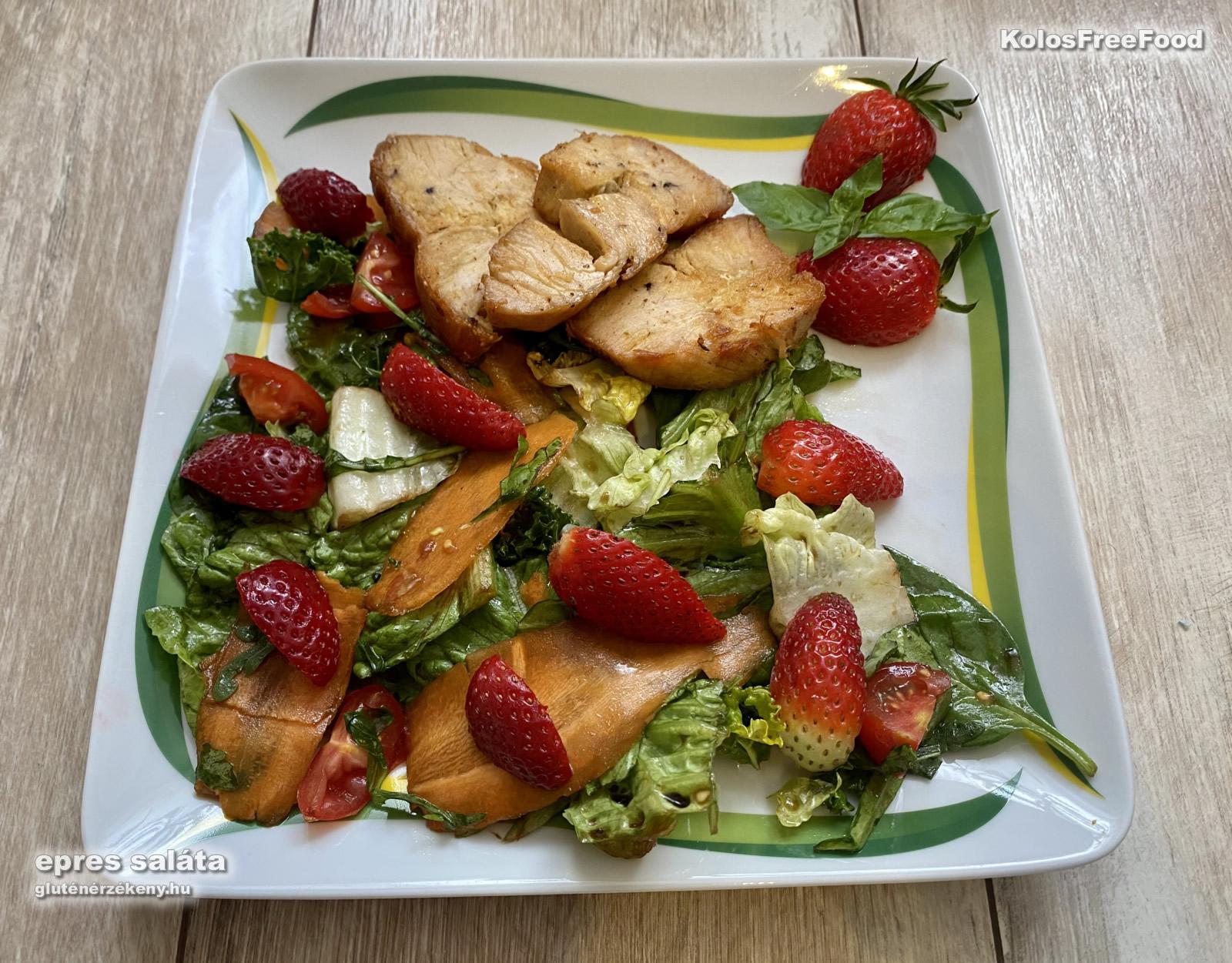 epres gluténmentes saláta recept