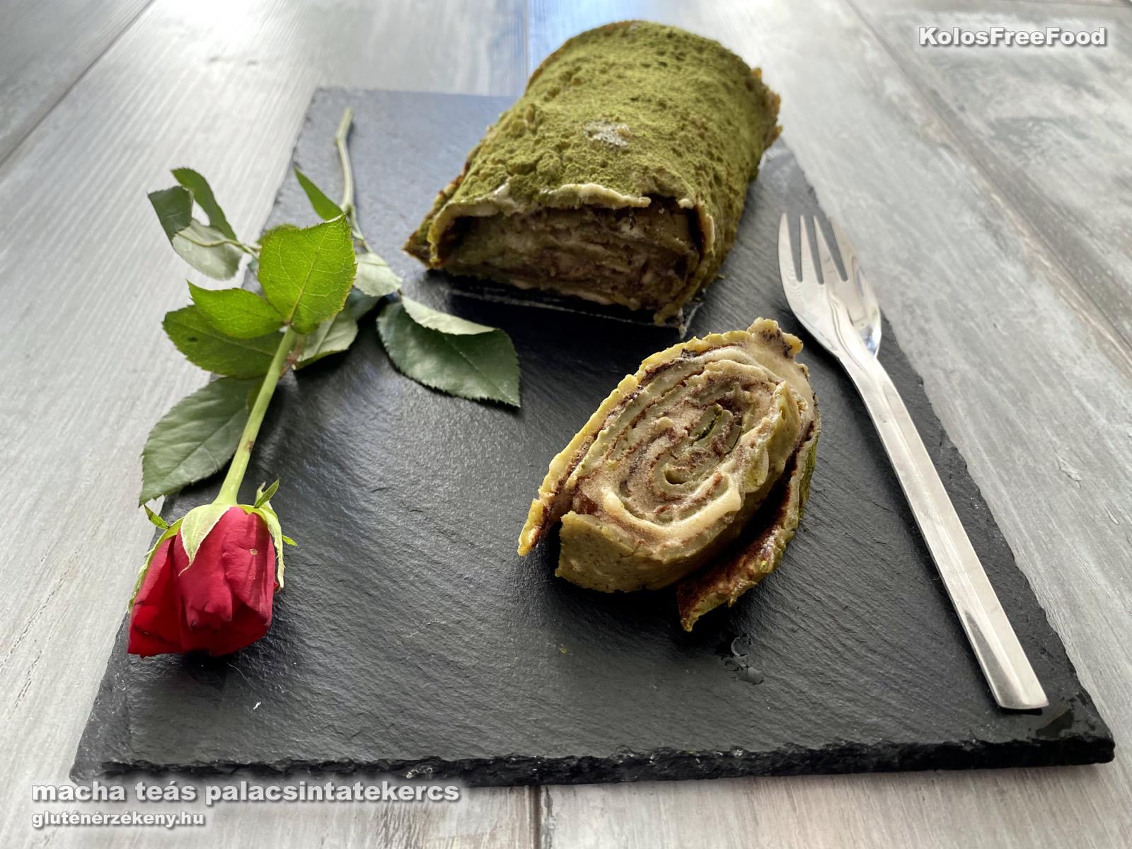 macha teás gluténmentes palacsinatekercs recept