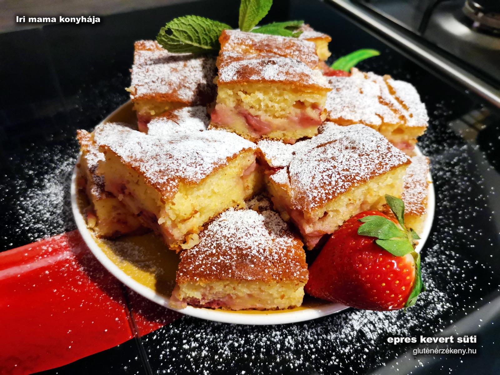 epres gluténmentes kevert süti recept