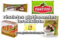 Maroni gesztenye alapú termékek gluténmentes terméklista - 2021.03.25