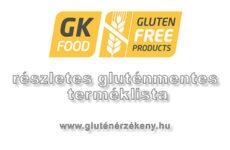 Gabonakutató Nonprofit Kft. gluténmentes terméklista
