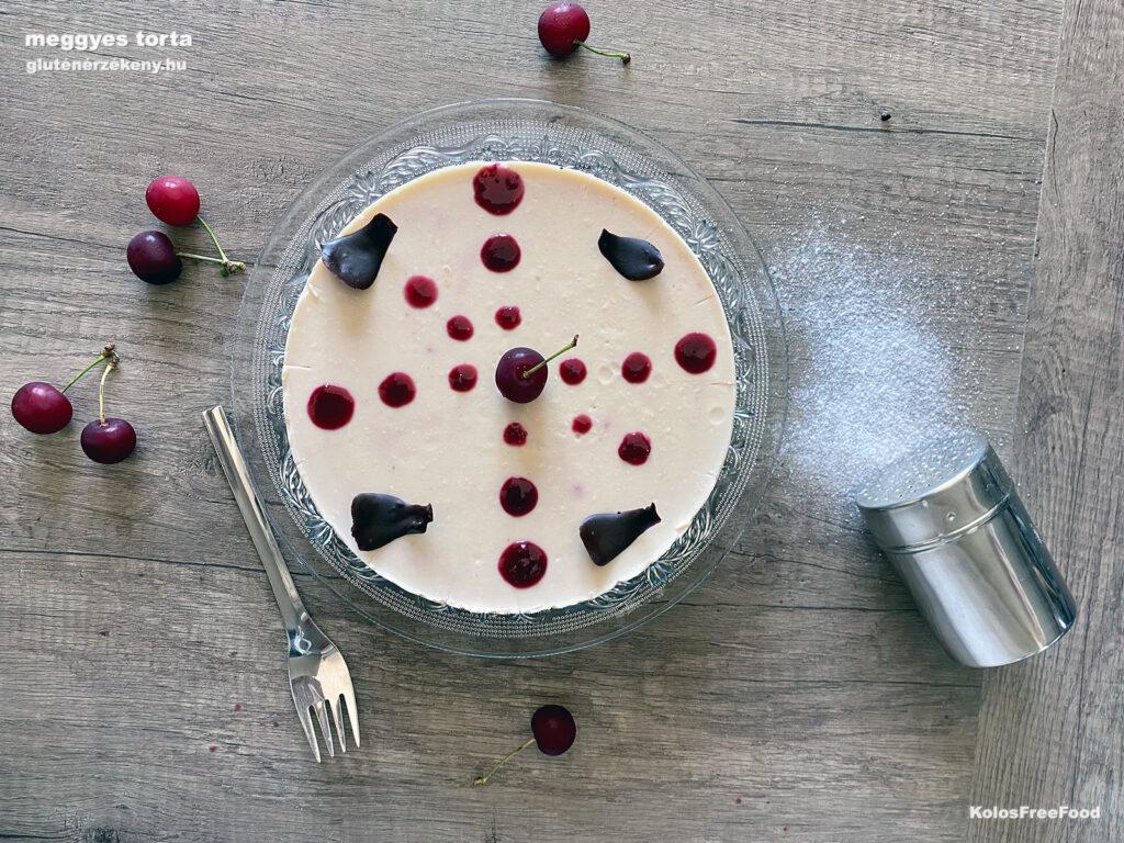 gluténmentes meggyes torta recept